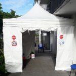 Installation d'un barnum pour votre confort
